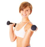 Young Woman Lifting Weights Royalty Free Stock Image