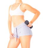 Young Woman Lifting Weights Stock Images
