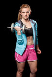 Young Woman Lifting Weights Royalty Free Stock Photo