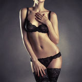 Young woman in lingerie Royalty Free Stock Image