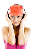 Young woman listen music Royalty Free Stock Images