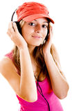 Young woman listen music Royalty Free Stock Image