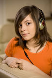 Young woman listening music Royalty Free Stock Photo