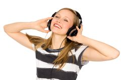 Young woman listening music Royalty Free Stock Photography
