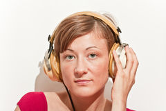 Young woman listening music Stock Photo