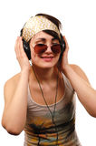 Young woman listening music. Royalty Free Stock Image