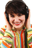 Young woman listening music. Stock Image