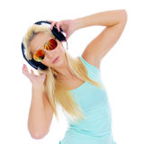 Young woman listening to the music Royalty Free Stock Photography