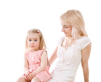 Young woman and little girl Royalty Free Stock Photos