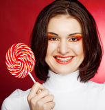 Young woman with lollipop Stock Photo