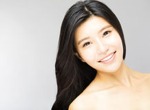 Young Woman with Long and Black  Hair Royalty Free Stock Images