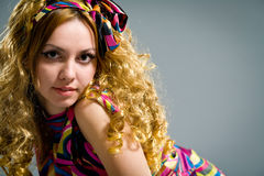 Young woman with long eyelashes Royalty Free Stock Images