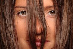 Young woman with long hair Stock Photography