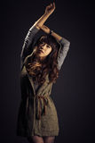 Young woman with long hair Royalty Free Stock Images