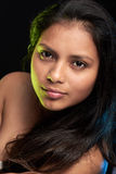 Young woman with long hair. Portrait of young latino woman with long hair Stock Photo