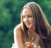 Young woman look a side Royalty Free Stock Photography