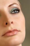 Young woman look at up. Beauty eye make up Royalty Free Stock Photography