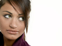 Young woman looking away. Close up of a young woman looking away Royalty Free Stock Photos