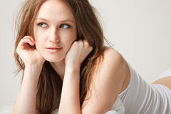 Young woman is looking away Stock Photography