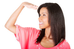 Young woman looking away Stock Images