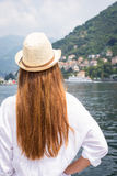 Young woman looking at the beautiful view Stock Images