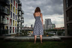 Young woman looking at city Royalty Free Stock Photo