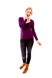 Young woman looking excited Stock Photography