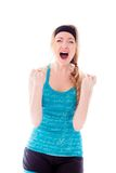 Young woman looking frustrated and shouting Royalty Free Stock Photography