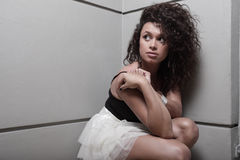 Young woman looking over her shoulder Royalty Free Stock Image