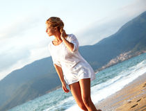 Young woman looking over horizon Royalty Free Stock Photo