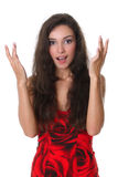 Young woman looking surprised Royalty Free Stock Photography