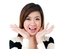 Young Woman Looking Surprised Stock Photos