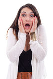 Young woman looking surprised Royalty Free Stock Image