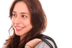 Young woman looking to one side Royalty Free Stock Image