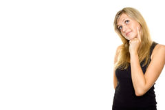 Young Woman Looking Up Royalty Free Stock Images