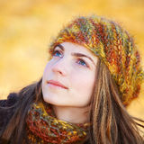 Young woman looking up Royalty Free Stock Photography