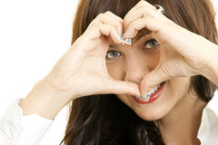 A young woman in love Stock Photography