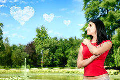 Young woman in love Stock Image