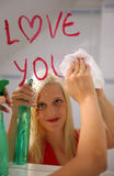 Young woman in love. A young woman in love Royalty Free Stock Images