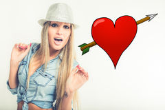 Young woman in love Stock Photography