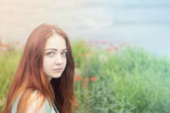 Young woman with lovely appearance stock photos