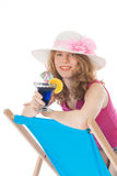 Young woman with luxury cocktail Royalty Free Stock Image