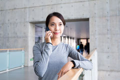 Young woman make call Royalty Free Stock Image