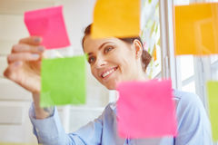 Young woman make decisions Stock Photo