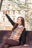 Young  woman make  selfie Stock Photography