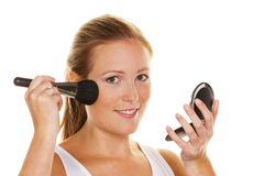Young woman on make-up Stock Image