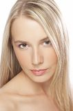Young woman with make-up Stock Images