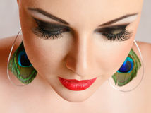 Young woman with make-up close-up Royalty Free Stock Photography