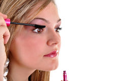 Young woman makeup Stock Photography