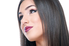 Young woman with makeup Stock Photography